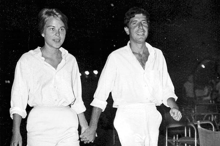 Young love: Ihlen and Cohen in the 1960s