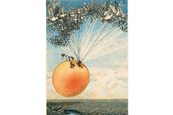 Lines of beauty: Nancy Ekholm Burkert's illustration for James and the Giant Peach