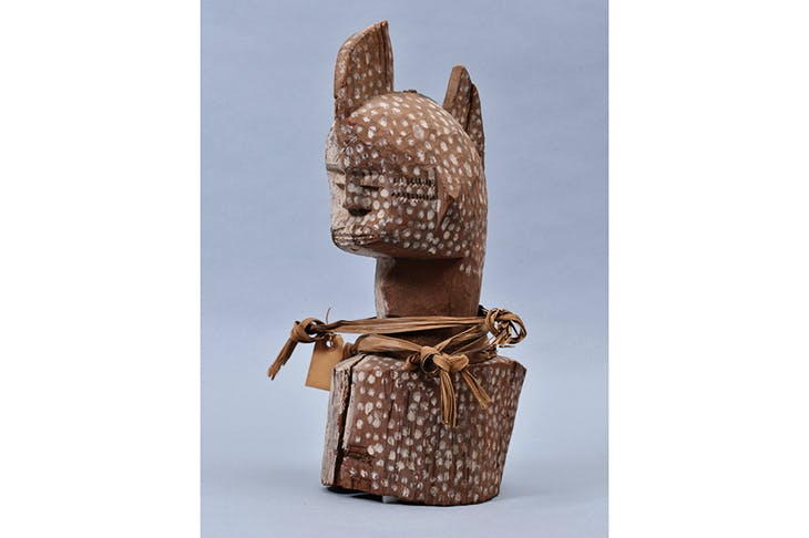 Wooden head from southern Nigeria, collected by Northcote W. Thomas in 1910