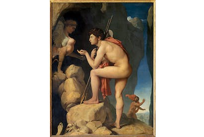 'Oedipus and the Sphinx', c.1826, by Ingres, a copy of which hung over Freud's desk