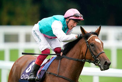 Frankie Dettori aboard Enable, the greatest filly ever
