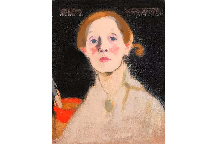 'Self-Portrait, Black Background' (1915): an entire room in the RA exhibition is devoted to Schjerfbeck's examination of herself