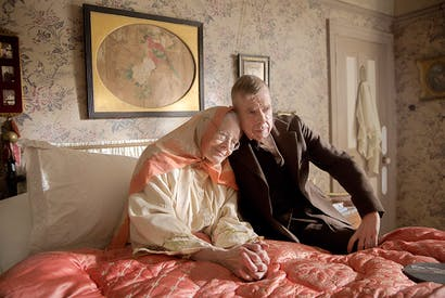 Vanessa Redgrave and Timothy Spall as Mrs Lowry and her son