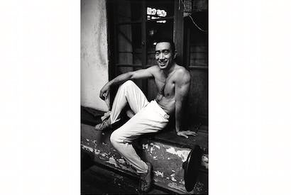 Yukio Mishima posing in Tokyo in 1970. Credit: Getty Images
