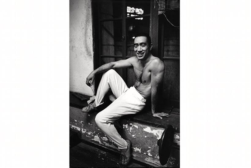 Yukio Mishima posing in Tokyo in 1970. Credit: Getty Images
