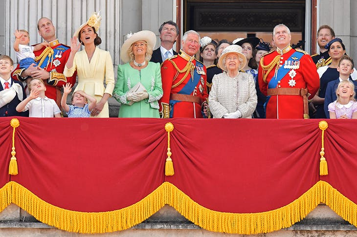 The royal family at this year's Trooping the Colour (Getty)