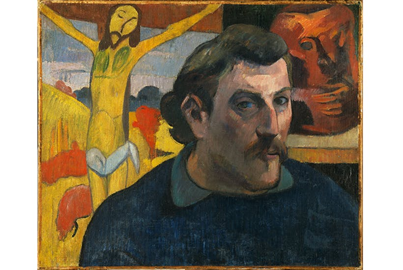 'Self-Portrait with Yellow Christ', 1890–91, by Paul Gauguin