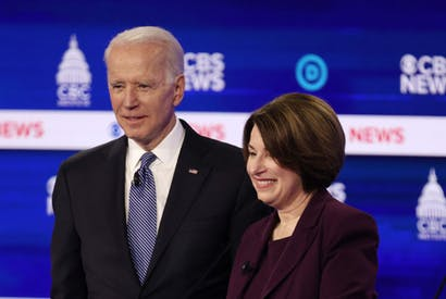 klobuchar biden train