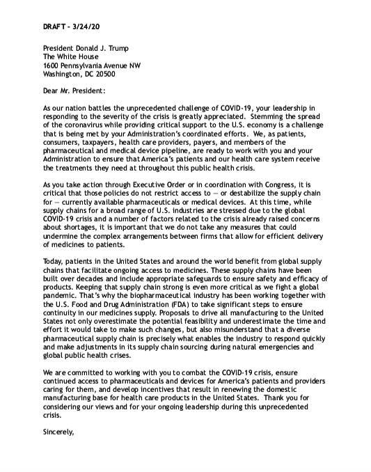 AAM Draft Letter