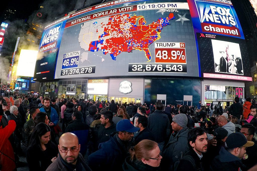 Times Square 2016 election