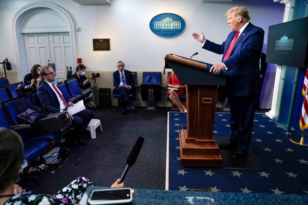 donald trump leading