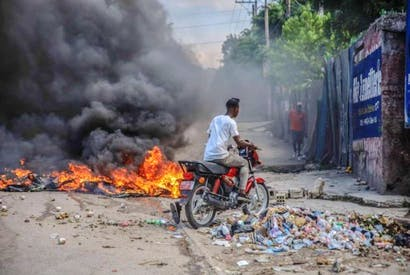 A nationwide general strike emptied the streets of Haiti's capital Port-au-Prince on Monday